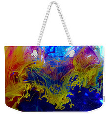 Ink Explosion 9 Weekender Tote Bag by Lilia D
