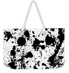 Weekender Tote Bag featuring the photograph Ink Spattered All Over by Menega Sabidussi