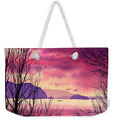 Weekender Tote Bag featuring the painting Inland Sea Islands by James Williamson