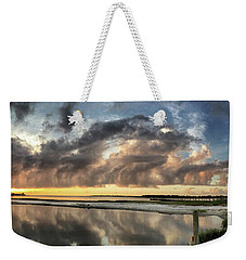 Weekender Tote Bag featuring the photograph Inlet Sunrise Panorama by Phil Mancuso