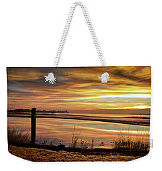Weekender Tote Bag featuring the photograph Inlet Watch At Dawn by Phil Mancuso