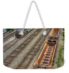 Weekender Tote Bag featuring the photograph Inman Intermodal Yard Atlanta Norfolk Southern Railway Locomotive 2665 Art by Reid Callaway