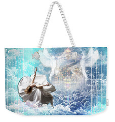 Weekender Tote Bag featuring the digital art Inner Courts by Dolores Develde