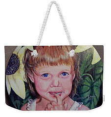 Innocence Under A Sunflower Weekender Tote Bag