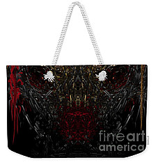 Weekender Tote Bag featuring the digital art  Insecticidal  by Reed Novotny