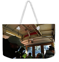 Weekender Tote Bag featuring the photograph Inside A Cable Car by Steven Spak