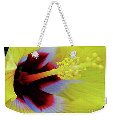 Inside A Yellow Beauty Weekender Tote Bag