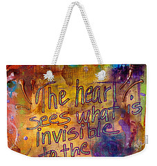 Inside Out Weekender Tote Bag by Angela L Walker