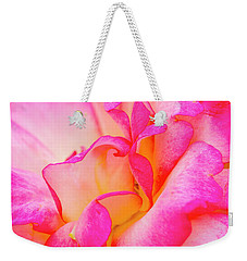 Inside Rose Petal Curves Weekender Tote Bag by Teri Virbickis
