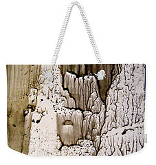 Weekender Tote Bag featuring the painting Inside The Cave by Nancy Kane Chapman