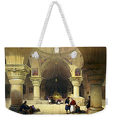 Inside The Church Of The Holy Sepulchre In Jerusalem Weekender Tote Bag