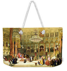 Inside The Church Of The Holy Sepulchre Weekender Tote Bag