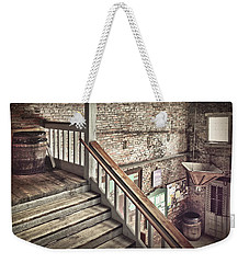 Weekender Tote Bag featuring the photograph Inside The Cotton Exchange by Phil Mancuso