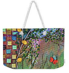 Inside The Garden Wall Weekender Tote Bag by Donna Blackhall