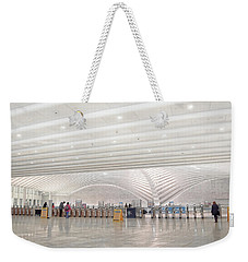Inside The Oculus - New York City's Financial District Weekender Tote Bag
