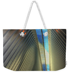 Weekender Tote Bag featuring the photograph Inside The Oculus by Paul Wear