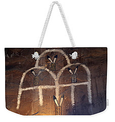 Weekender Tote Bag featuring the photograph Inside The Watchtower 2 by Mary Bedy