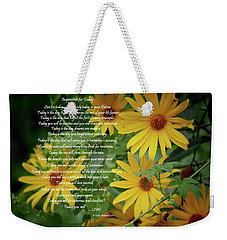 Inspiration For Today Floral Weekender Tote Bag by Cathy  Beharriell