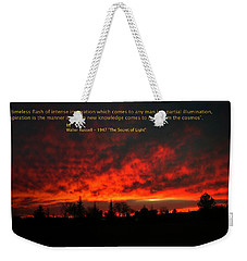 Weekender Tote Bag featuring the photograph Inspiration by Joyce Dickens