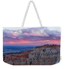 Weekender Tote Bag featuring the photograph Inspiration Point Sunset by Patricia Davidson