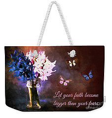 Inspirational Flower Art Weekender Tote Bag