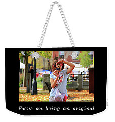 Inspirational- Focus Weekender Tote Bag