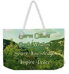 Inspire Peace Weekender Tote Bag