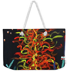 Weekender Tote Bag featuring the painting Inspired By Chihuly by Linda Feinberg