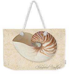 Inspired Coast Iv - Chambered Nautilus, Nautilus Pompilius Weekender Tote Bag