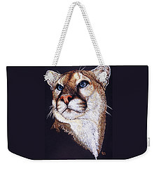 Weekender Tote Bag featuring the drawing Intense by Barbara Keith