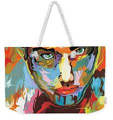 Weekender Tote Bag featuring the digital art Intense Face 2 by Darren Cannell