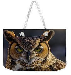 Intense Owl Weekender Tote Bag