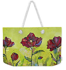Intensity Of The Poppy I Weekender Tote Bag by Shadia Derbyshire