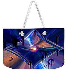 Weekender Tote Bag featuring the digital art Interdimensional Portal by Linda Sannuti