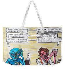 Intergalactic Reality Check Weekender Tote Bag