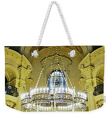 Interior Evening View Of St. Nicholas Church In Prague Weekender Tote Bag