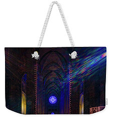 Weekender Tote Bag featuring the photograph Interior Looking Rearwards, Cathedral Of St. John The Divine by Chris Lord
