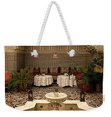 Interior Of A Traditional Riad In Fez Weekender Tote Bag by Ralph A  Ledergerber-Photography