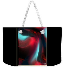 Weekender Tote Bag featuring the digital art Interior Of Desire In Development by Yul Olaivar