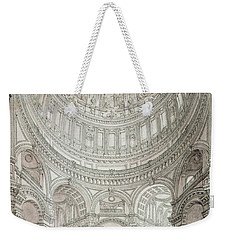 Interior Of Saint Pauls Cathedral Weekender Tote Bag by John Coney