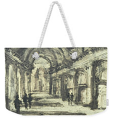 Weekender Tote Bag featuring the painting Interior Of St. Peter After Giovanni Piranesi by Martin Stankewitz