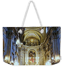 Interior View Of Santi Vincenzo E Anastasio A Fontana Di Trevi In Rome Italy Weekender Tote Bag