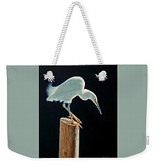 Interlude - Snowy Egret Weekender Tote Bag