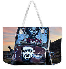 Weekender Tote Bag featuring the photograph International Car Forest Of The Last Church 1 by James Sage
