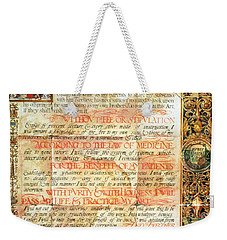 International Code Of Medical Ethics Weekender Tote Bag