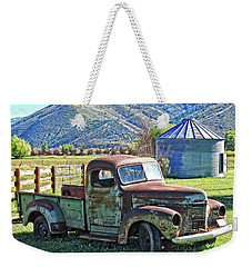 Weekender Tote Bag featuring the photograph International Farm by David King