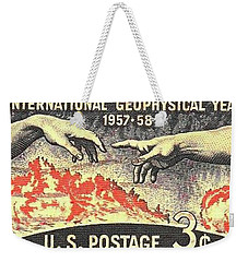 International Geophysical Year Stamp Weekender Tote Bag