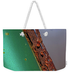 Weekender Tote Bag featuring the photograph International Green by Susan Capuano