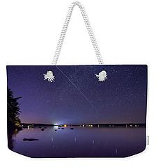 International Space Station Over Branch Lake Weekender Tote Bag