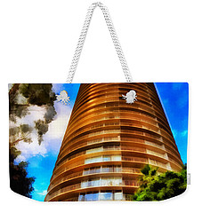 Weekender Tote Bag featuring the photograph International Tower  by Joseph Hollingsworth
